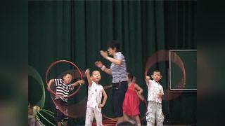 中班运动转向跳圈周红幼儿园优质课上海名师教学视频