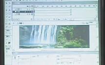 高一信息技术 flash动画创意设计-瀑布钟英