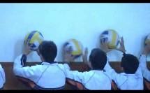 初中体育八年级上册《正面上手传球手型》【范碧芬】(浙江省中小学教师培训网络观摩课)