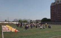 五年级体育《蹲踞式跳远考核》优秀教学视频