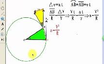 人教版_必修二_第五章 曲线运动_5.向心加速度_向心力和向心加速度微课