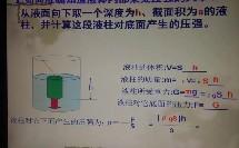 粤教沪科版_八年级下册_第八章 神奇的压强_2.研究液体的压强_液体压强计算公式的推导微课