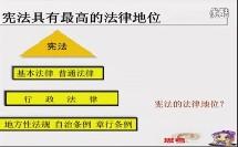 人教版初中思想品德九年级《宪法是国家的基本大法》10分钟微型课视频,北京闫温梅