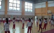 人教版小学体育与健康《迎面接力跑》教学视频,苏州工业园区莲花学校
