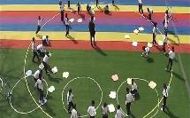 人教体育与健康课标版三至四年级《游戏与立定跳远练习》教学视频,获奖课视频