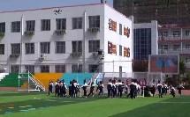 人教体育与健康课标版一至二年级《单手持轻物投准与游戏》教学视频,获奖课视频