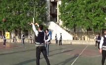 《原地双手胸前传接球》优质课(人教版初一体育与健康,金成洲)