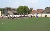 《足球脚内,外侧运球》人教版初一体育与健康,宋能新