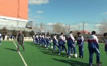 《足球-脚内侧踢球,停球技术》人教版初一体育与健康,刘兴柱