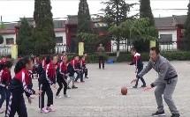 《小篮球-原地运球》科学版四年级体育,姚友胜