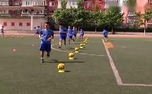 高中体育《足球运球-脚内侧脚背外侧运球》优质课教学视频-付老师