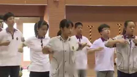 《体育与健康》七年级《排球-侧面下手发球》江苏省 - 南京