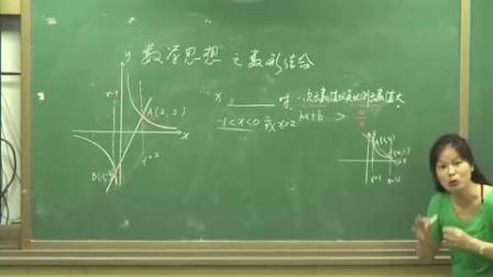 人教版初中数学九年级下册第26章函数复习课-数学思想方法之数形结合-江西