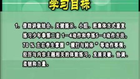 七年级武术少年拳-上海市_1(第五届全国中小学体育教学观摩)