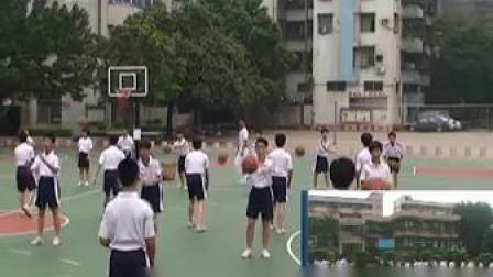 八年级篮球传切配合及体能练习-广东佛山_1第五届全国中小学体育