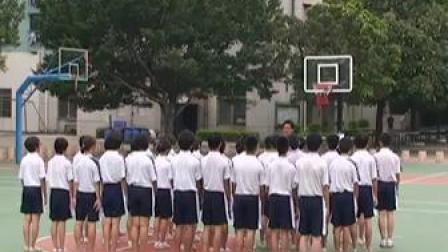 八年级篮球传切配合及体能练习-广东佛山_2第五届全国中小学体育