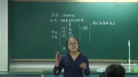 初中生物人教版七年级下册第一节《呼吸道对空气的处理》北京