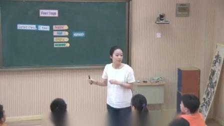 杭州西湖区小学英语微课片段教学评比视频六年级《Feelings》朱妍