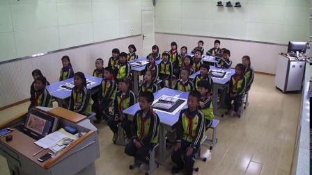 部编二年级下册《点、线、面》优质课视频,人教2011课标版