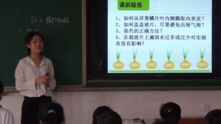 人教2011课标版生物 七上 第二单元第一章第二节《植物细胞》课堂教学视频-米雪