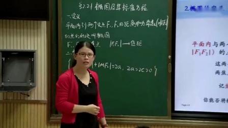 """2017年""""湖北好课堂""""高中数学优质课展评录像视频(附课件)《椭圆及其标准方程》黄石"""