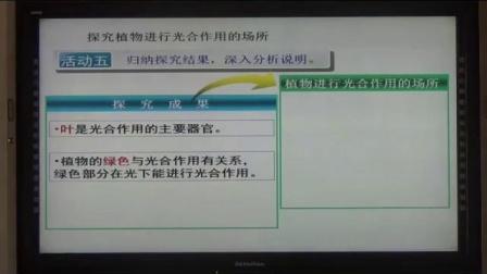 苏科版七上第四章《植物的光合作用》江苏省- 赣榆学案