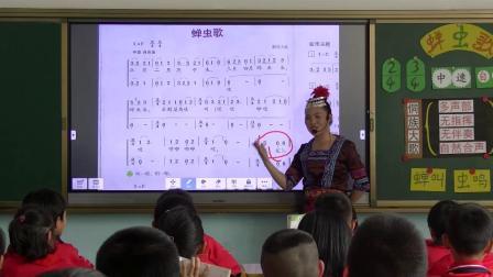 《-演唱蝉虫歌》课堂-湘文艺版小学音乐三年级下册